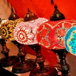 Middle East handicraft Lamps creative Turkish Mosaic Lamp