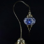 New* BOSPHORUS Stunning Handmade Swan Neck Turkish Moroccan Mosaic Glass