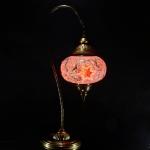 New BOSPHORUS Stunning Handmade Swan Neck Turkish Moroccan Mosaic Glass Table