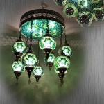 Turkish mosaic lamp hotel lamps with outlets