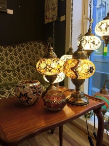 1-2-3 size table mosaic lamp (8)