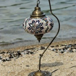 Hotsale Brass Swan Neck Globe Shade Mosaic Lamps