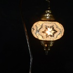 Istanbul Handicraft Mosaic Turkish Swan Table Lamps