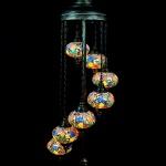 LAMP TURCA DE PIE CON 7 TULIPAS