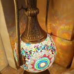 Large ewer mosaic lamp