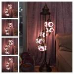 3'lü lambader mozaik lamba