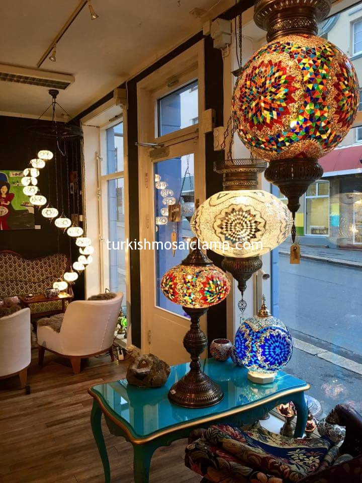 Turkish Mosaic Lamps Are Used At Home, At Work, At Restaurants In Cafes,  In Turkish Baths And Boutique Hotels