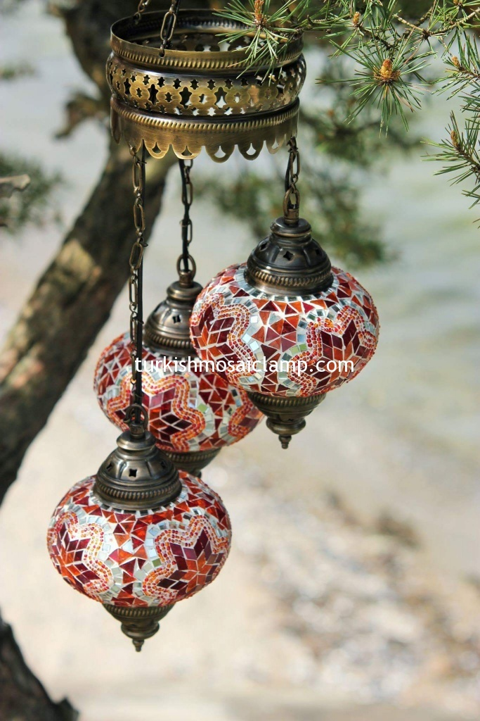 different turkish mosaic lamp