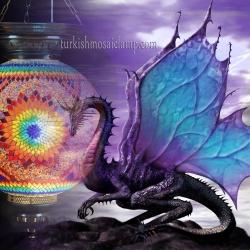 dragon mosaic lamp
