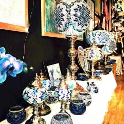Ottoman style mosaic lamp