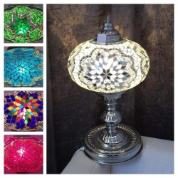 Silver Mosaic Lamp