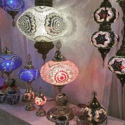 table mosaic lamp turkish handmade