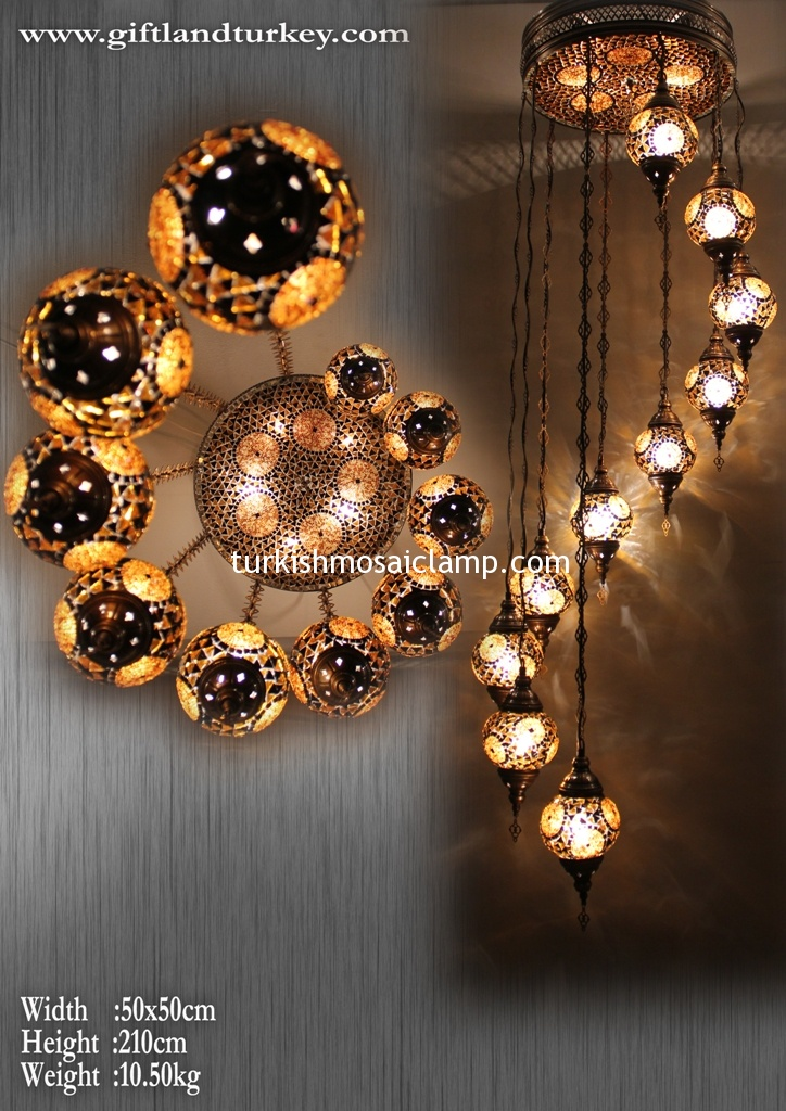 Handmade mosaic glass lamp lanterns