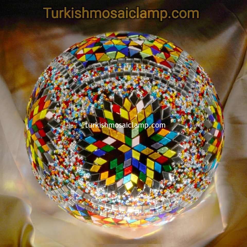 30cm Mosaic Glass Lamp Model