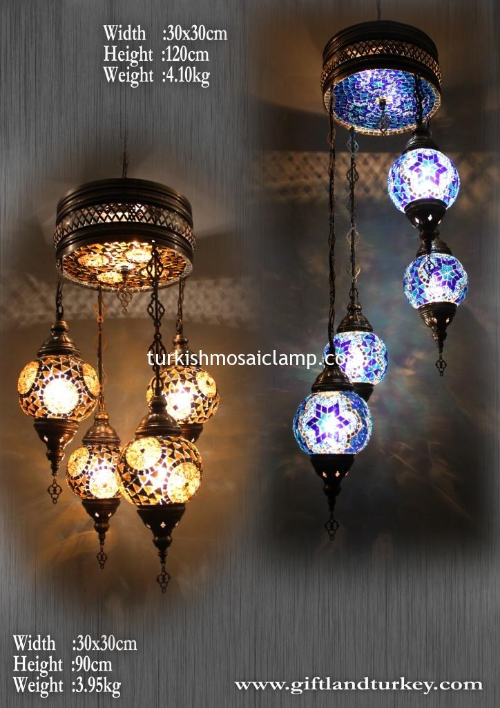 Handmade mosaic glass lamp