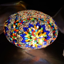 Oval Mix Mosaic Lamp 30cm