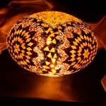 Mosaic glass lamp model 30cm oval