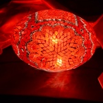 30cm oval mosaic lamps
