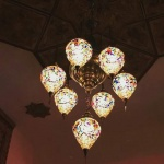 Ceiling suspended mosaic lamp