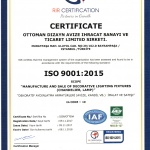 ISO 9001 Official papers, mosaic lamp producer