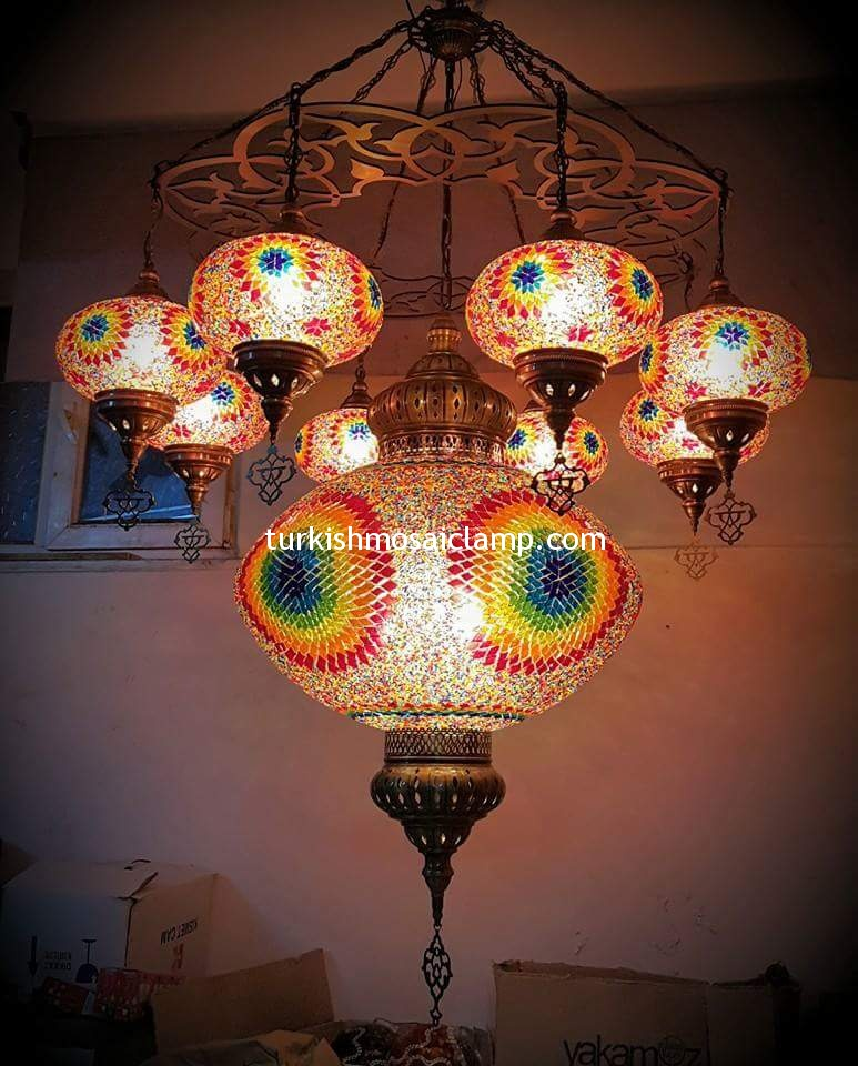 Ceiling suspended mosaic lamp mosaic lamp mosaic lamp for Mosaic home decor