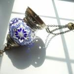 Hanging mosaic lantern lamp