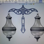 Mosaic lamp computer design