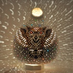 Owl mosaic lamps