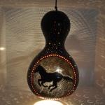 Horse Mosaic Lamp