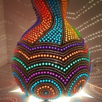 Rainbow mosaic lamp