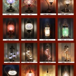 Mosaic lamps for visual show.