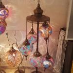 Floor mosaic gourd lamp
