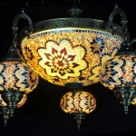 Usa mosaic glass lamp