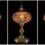 3 piece table mosaic lamps