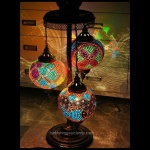 Fish and flower mosaic lamps