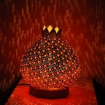 Pomegranate mosaic lamp