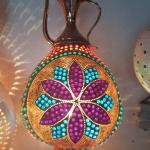 Top mosaic lamp