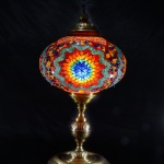 Carpet patterned table mosaic lamp