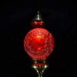 Turkish red carpet patterned mosaic lamp