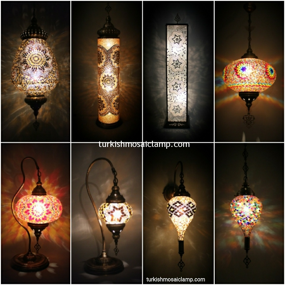 Moroccan and mosaic lamp types