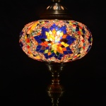 Mosaic Table Desk Bedside Night Tiffany Accent Lamp Light Lamp Shade Lampshade Metal Body