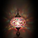 Turkish Moroccan Handmade Mosaic Table Desk Bedside Night Tiffany Accent Lamp Light