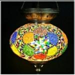 Three chain mosaic hanging lamp