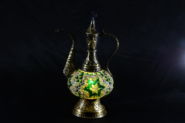 Authentic Jug Mosaic Lamp Ottoman Mosaic Lamp Mosaic