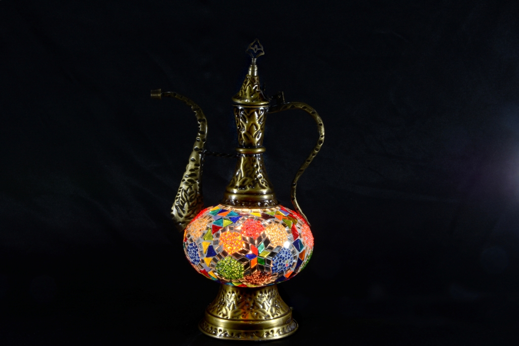 Pitcher Turkish Mosaic Decor Lamp