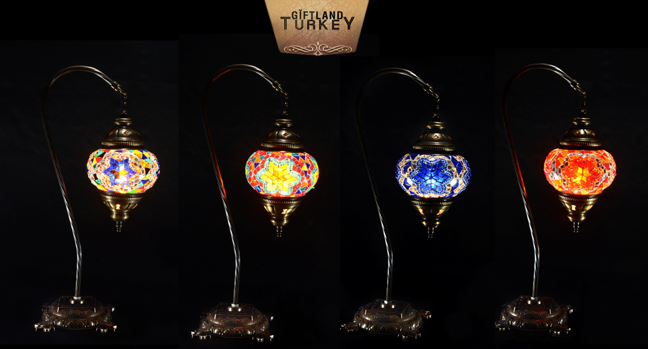 Swan Neck Mosaic Lamp Size 2
