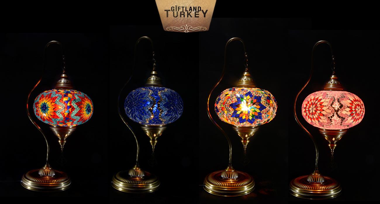 Swan Neck Mosaic Lamp Size 5