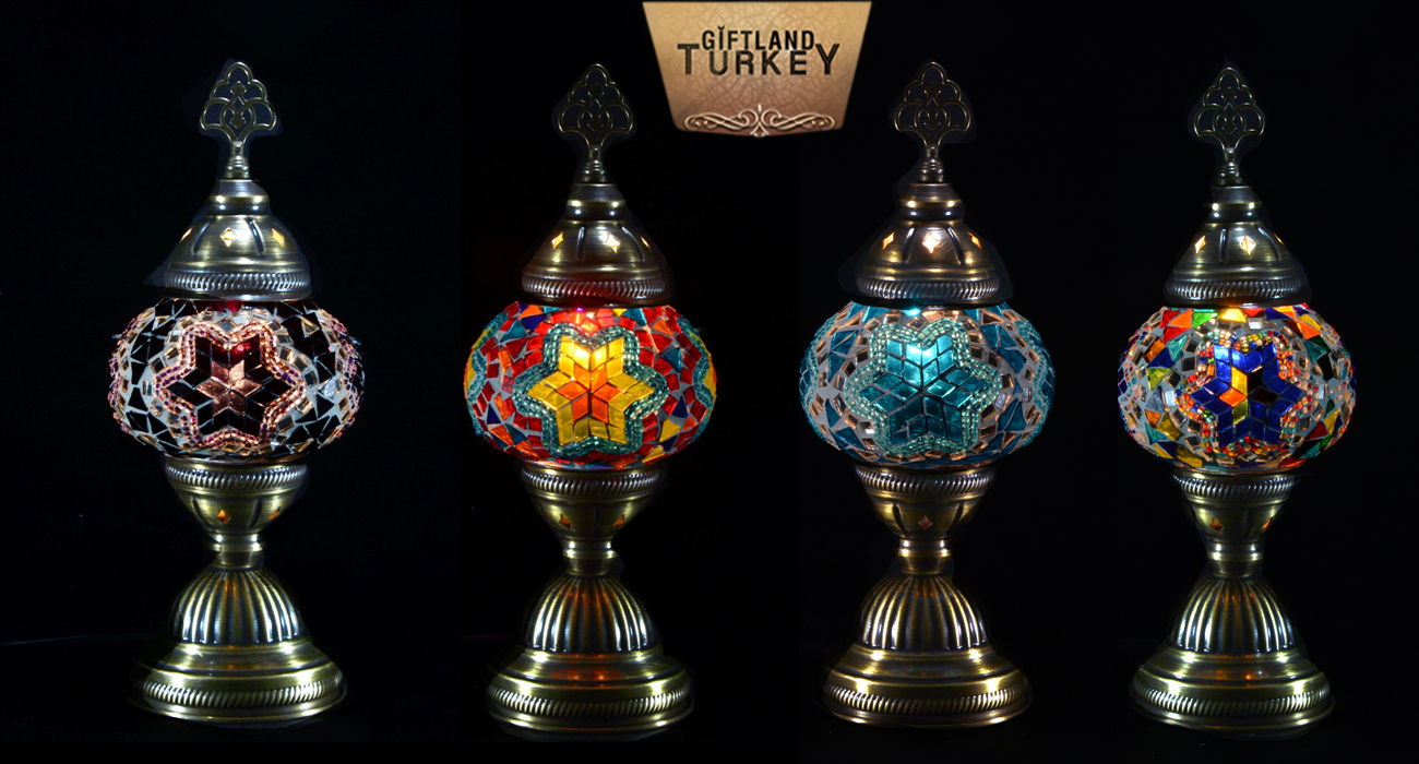 Mosaic Table Glass Lamp Size 2