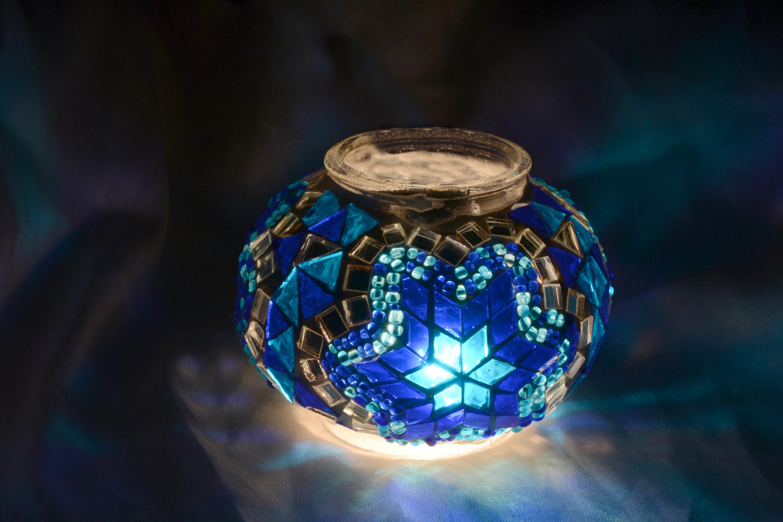 Size 1 mosaic glass lamp model