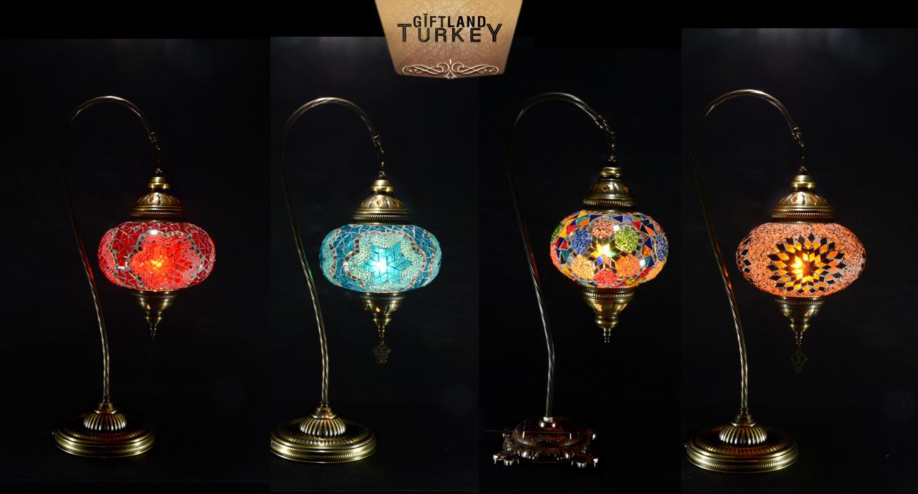Swan Neck Mosaic Lamp Size 3